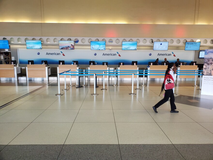empty Charlotte airport