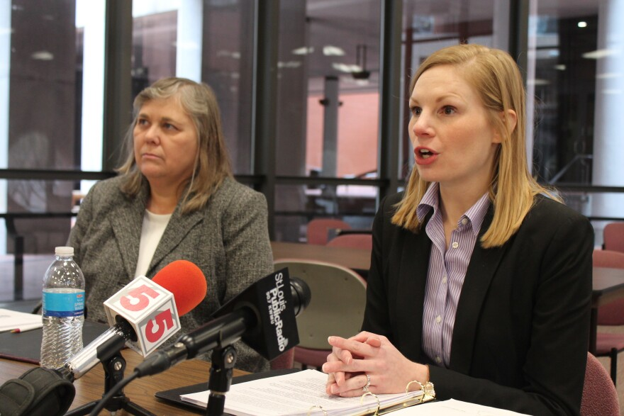 """State Auditor Nicole Galloway, right, slammed Carpenter for """"mismanagement"""" -- and criticized her response to the audit."""