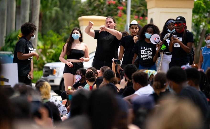 Black Lives Matter Weston protest Gerard Albert III.jpeg