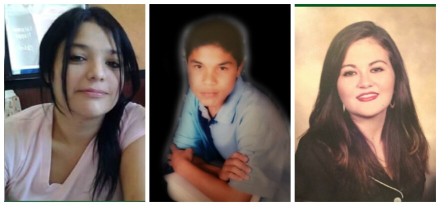 Three women allegedly were killed by a U.S. Customs and Border Protection agent from Sept. 3-15 in Laredo. Pictured, from left, are Melissa Ramirez, 29; Humberto Ortiz,28, identified as a transgender woman; and Claudine Luera, 42. Sept. 17, 2018