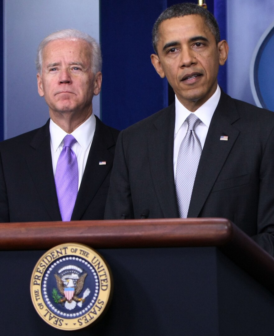"""Vice President Biden and President Obama at the White House on Dec. 19. Biden has been charged with drawing up """"concrete proposals"""" on how to reduce gun violence."""