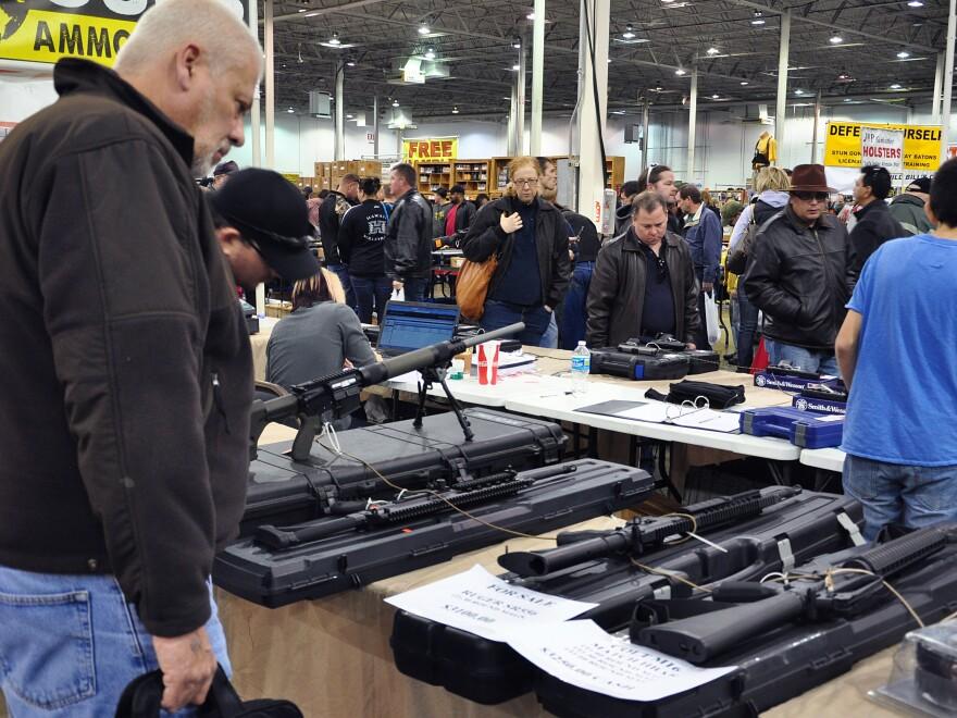 Gun show in Chantilly, Va., last December.