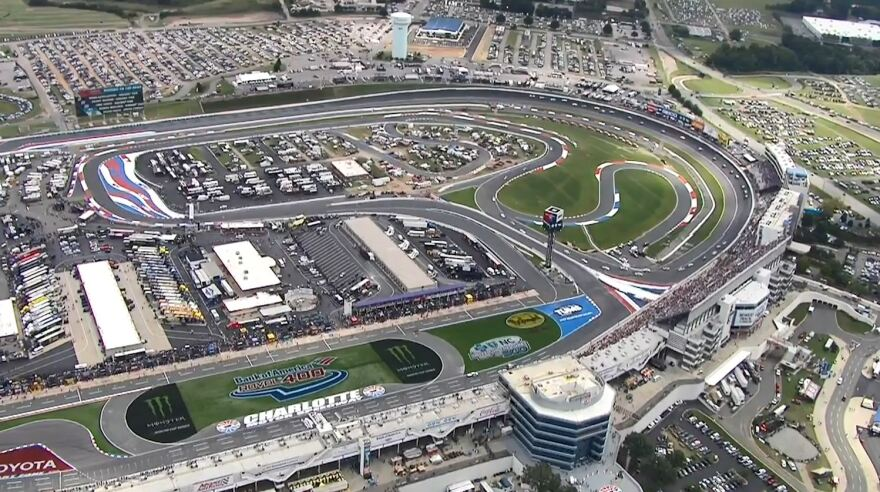 Charlotte Motor Speedway's Roval is a road course on and inside the traditional oval.