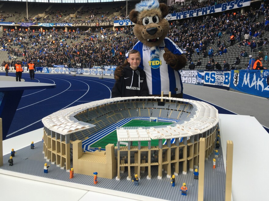 The Olympiastadion, home to the Berlin soccer club Hertha BSC.