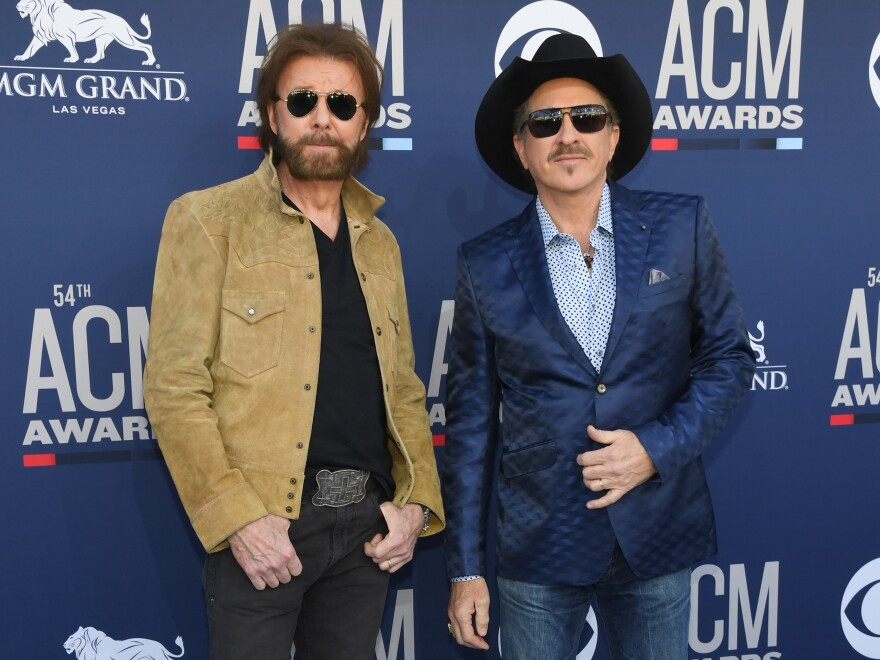 Ronnie Dunn (left) and Kix Brooks at the Academy Of Country Music Awards in April.