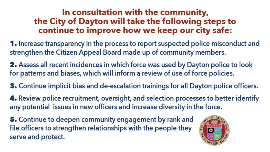 That week on June 3 Mayor Nan Whaley announced steps the city would take to address police department policies.
