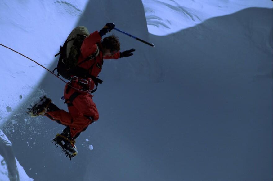 Bear Grylls on Everest summit 1998, aged 23. The youngest Brit at the time to climb the summit. (Bear Grylls Ventures)