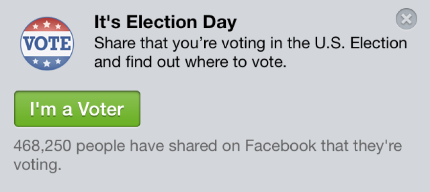 """Facebook's """"I'm a Voter"""" app."""
