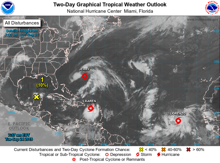 Forecasters are tracking three tropical storms