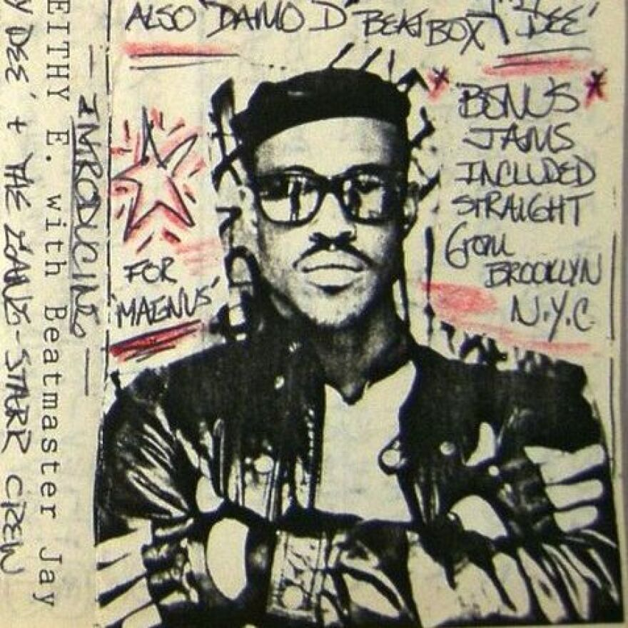 The cover of Keithy E's demo tape.