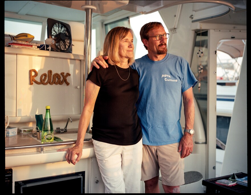 """Jeanie and Gary Blumenthal moved to Gangplank from the Virginia suburbs in 2014. """"Most people ask, 'What is it like in winter?' """" says Gary. """"The truth is that it is colder and wetter but strangely rewarding."""""""
