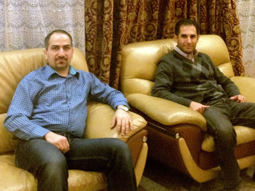 Sayf al-Tabaqchali (left) and his best friend, Yaser al-Hadithi, are repeating their medical residencies in the U.S. after leaving Baghdad.