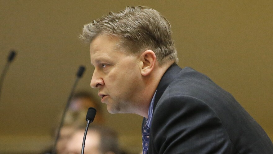 Republican state Sen. Todd Weiler, appearing on the Utah Senate floor in Salt Lake City in February, introduced a resolution to declare pornography a public health crisis, echoing an argument being made around the U.S. by conservative religious groups as porn becomes more accessible on smartphones and tablets.