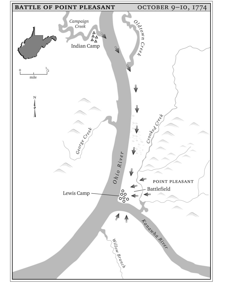 The treaty that followed the Battle of Point Pleasant, which was signed five months before the Revolutionary War began, brought relative peace to the region.
