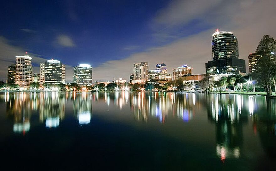 Orlando skyline at night.