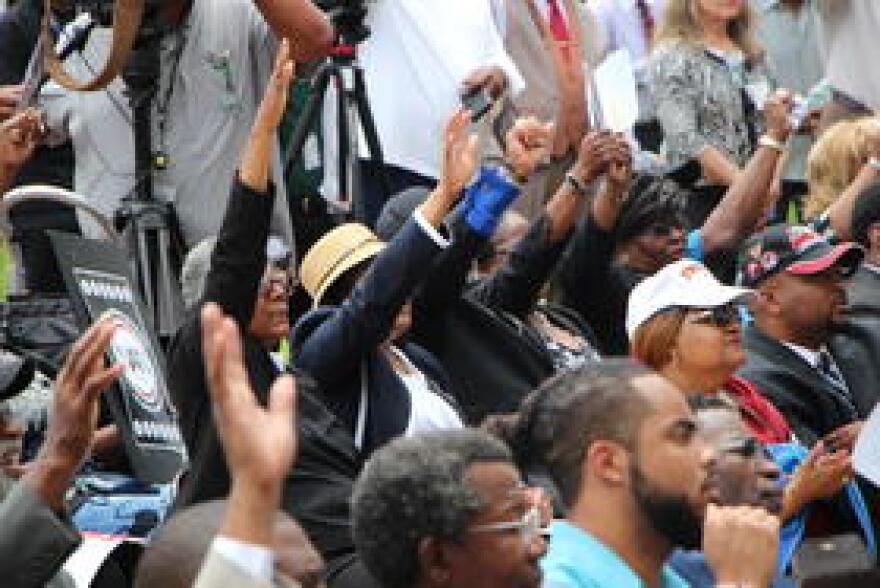 Hundreds gathered for a voting rights rally at Florida's Capitol April 26, 2018