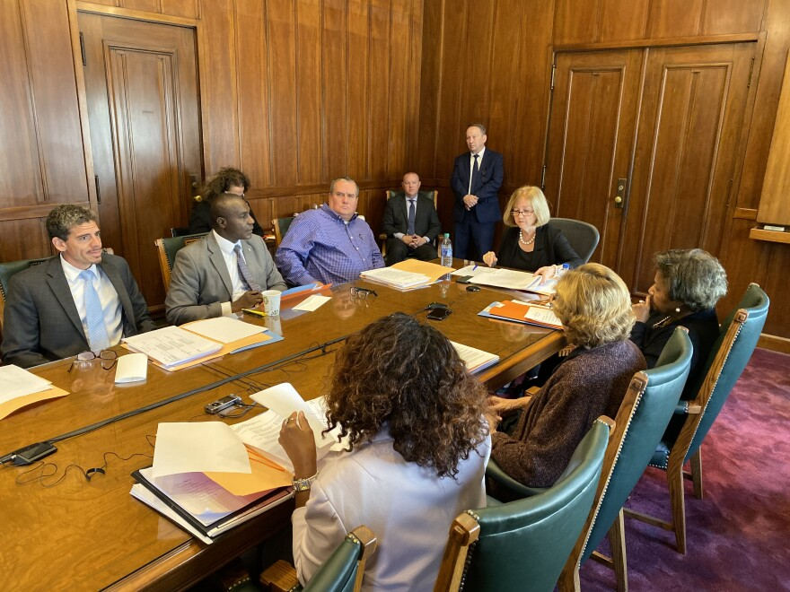 Members of the Board of Estimate and Apportionment meet Wednesday, Oct. 23, 2019, at St. Louis City Hall.