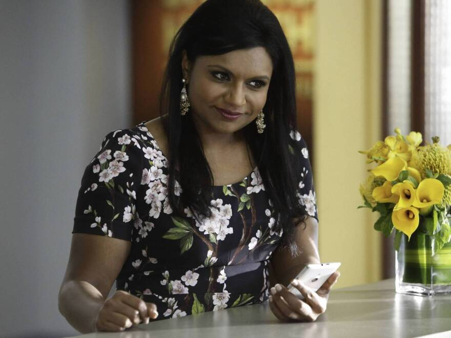 Mindy Kaling as Dr. Mindy Lahiri in <em>The Mindy Project</em>. See how great she is? She needs to stop changing for all her boyfriends.