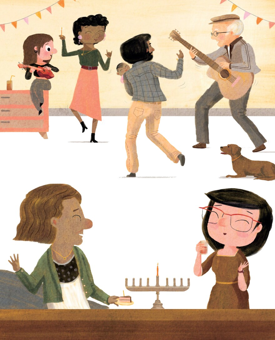 From<em> The Ninth Night of Hanukkah</em>, by Erica S. Perl and Shahar Kober