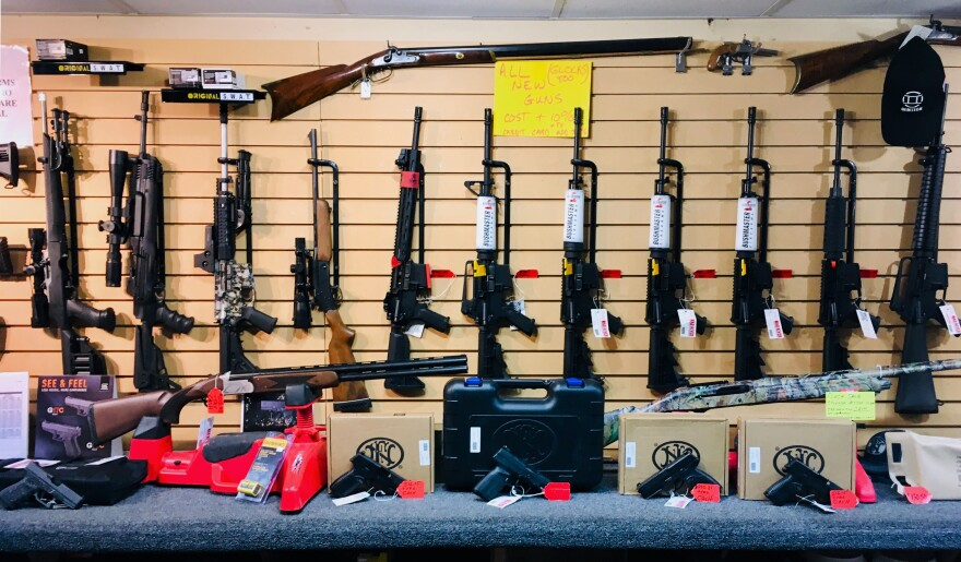 Weapons for sale at Mad River Armory and Range in Springfield.