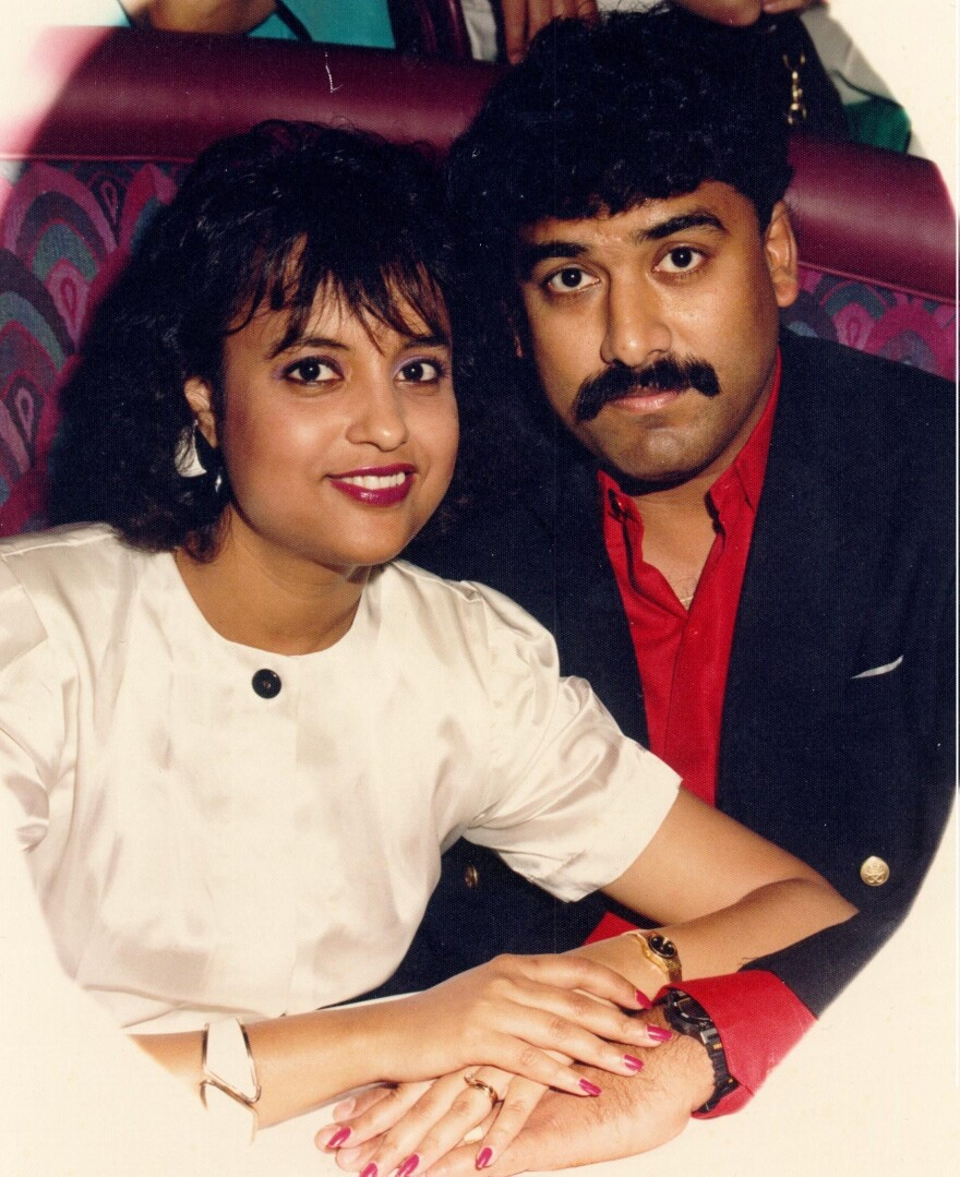 Since the death of Saha's wife in 1998, he's devoted his life to holding doctors accountable for malpractice. This picture was taken in 1992.