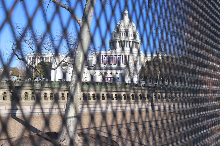 US Capitol Behind Fencing