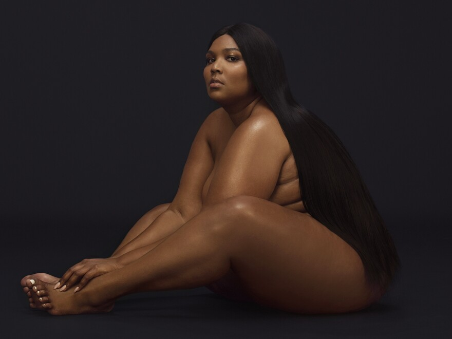 """""""That was me just so comfortable not trying to cover anything up,"""" Lizzo says of the cover photo for <em>Cuz I Love You.</em>"""