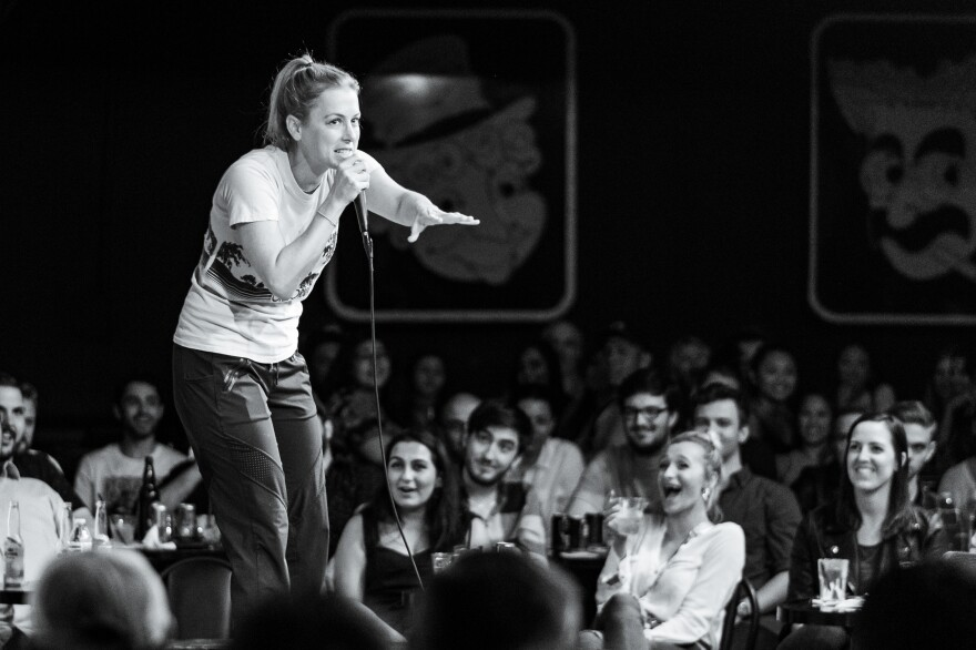 Iliza Shlesinger in <em>The Comedy Store,</em> out<em> </em>on Showtime on Oct. 4.