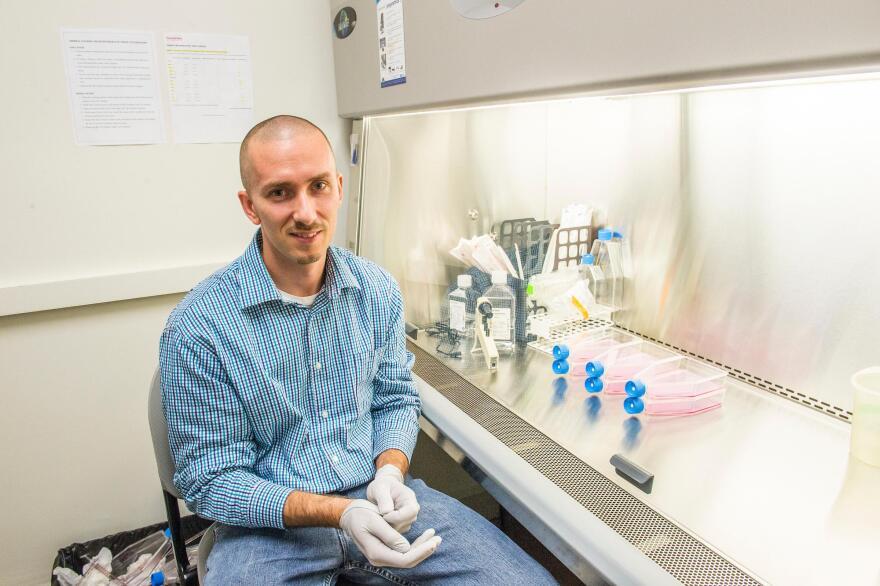 Keith Gagnon runs an RNA lab at Southern Illinois University.