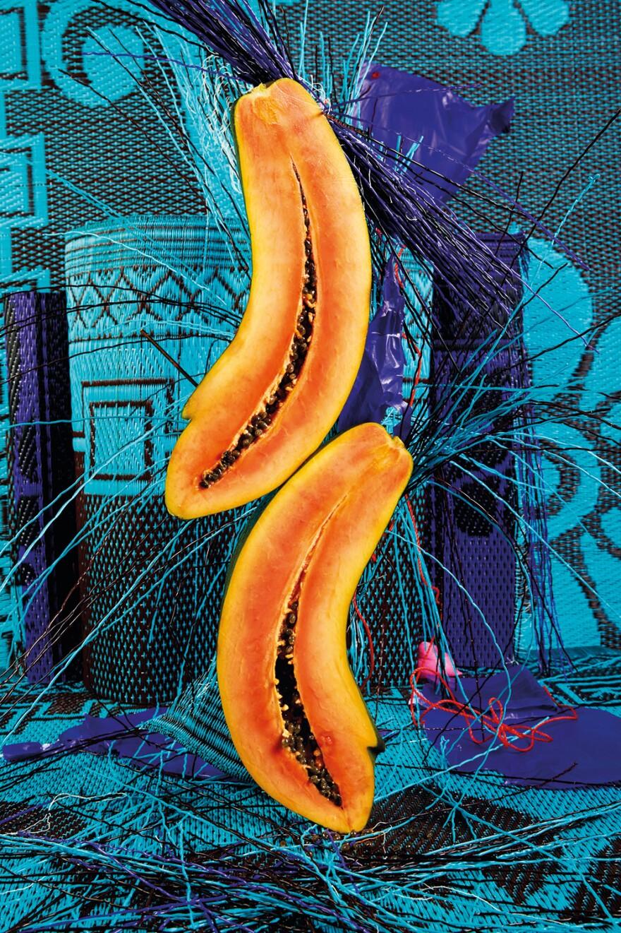 <em>Cyan Deconstruction #1</em> is among the artwork featured in Lorenzo Vitturi's book <em>Money Must Be Made, </em>an ode to the Balogun street market in Lagos Island, Nigeria.