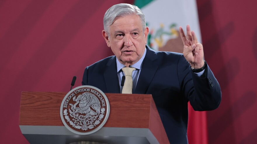 Mexican President Andrés Manuel López Obrador, seen here last month in Mexico City, will visit President Trump at the White House this week.