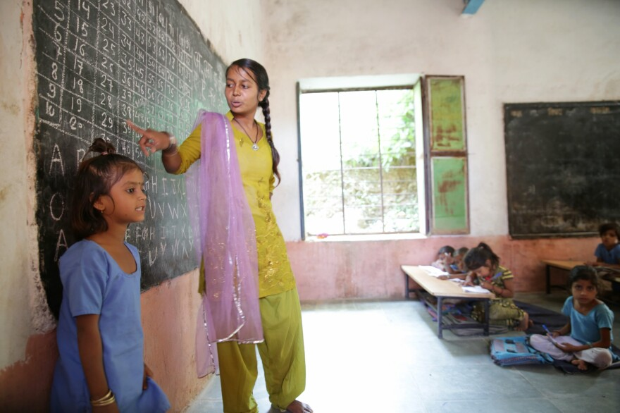 The mentors from Educate Girls recruit girl students in Indian villages — and teach them as well.