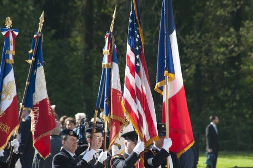In April, there was a ceremony at the Lafayette Escadrille and Flying Corps monument in France to mark the original Escadrille's centennial