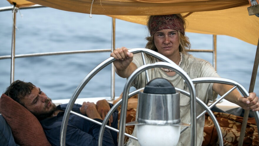 In <em>Adrift, </em>two free-spirited lovers (Sam Claflin, Shailene Woodley) take an ambitious sailing trip...that's complicated by the arrival of a hurricane.