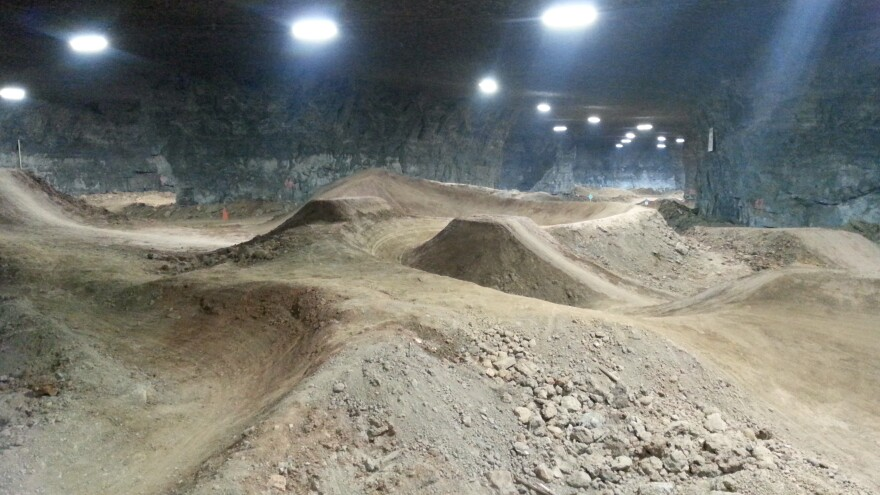 With more than 320,000 square feet of riding area, the new Mega Underground Bike Park features 45 trails.