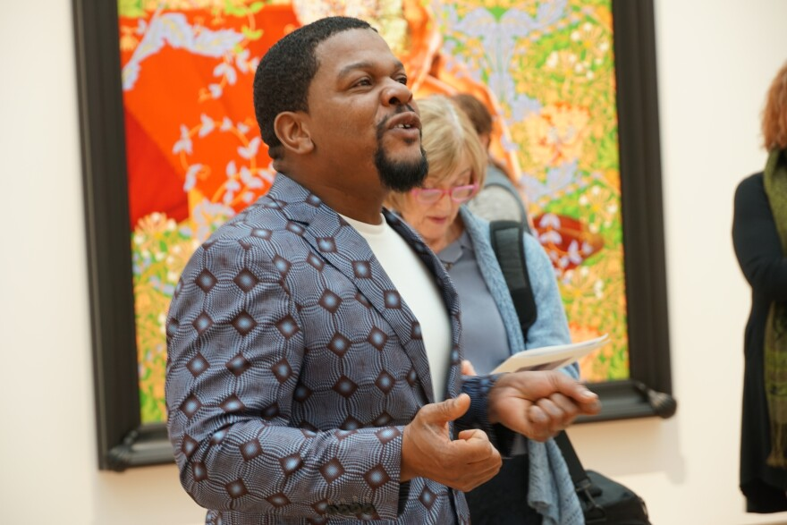 Kehinde Wiley discusses his latest work, now on view at St. Louis Art Museum. 10/29/18
