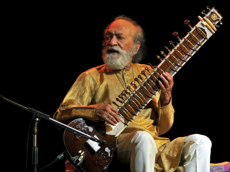 """He changed the whole approach to how an artist is perceived,"" sitarist Shubhendra Rao says of his teacher, Ravi Shankar (pictured)."