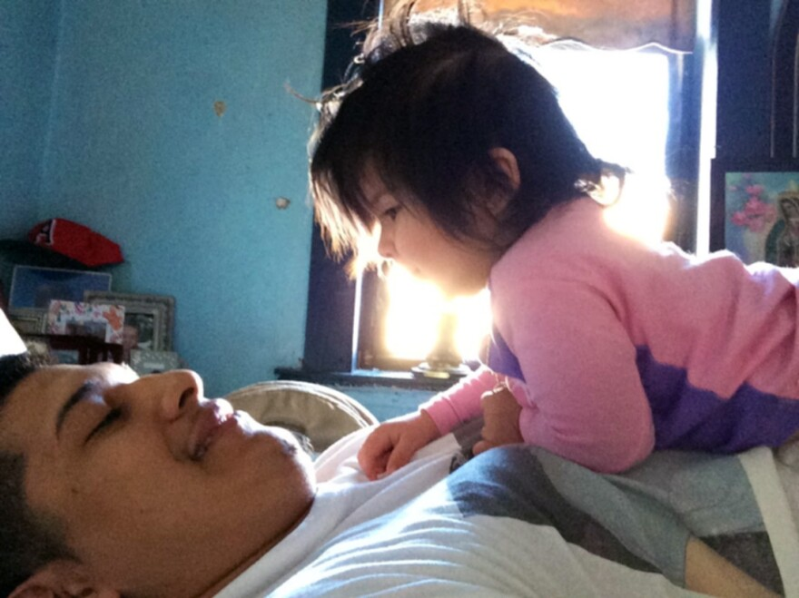 """Marvin Ramos, now 18, was overwhelmed when his daughter, Hailey, was born. But now he says he's determined to be the best father he can be. """"I haven't run away,"""" he says, """"and I never want to."""""""