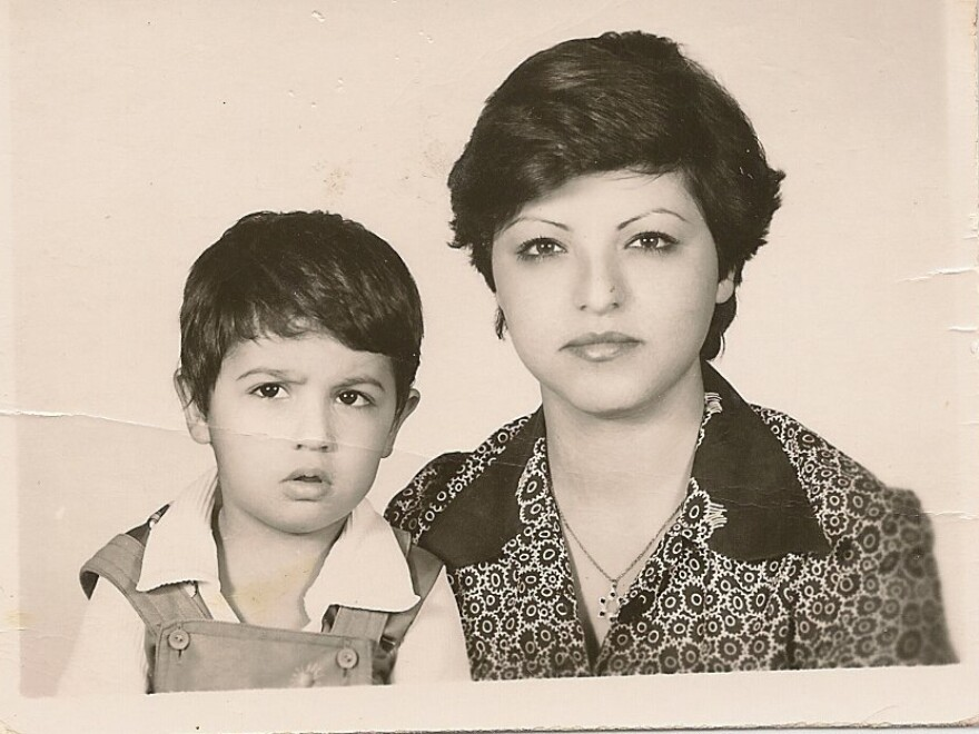 Roben Farzad and his mother in their 1978 visa photo