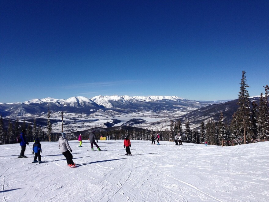 Skiers at Keystone Resort in Colorado