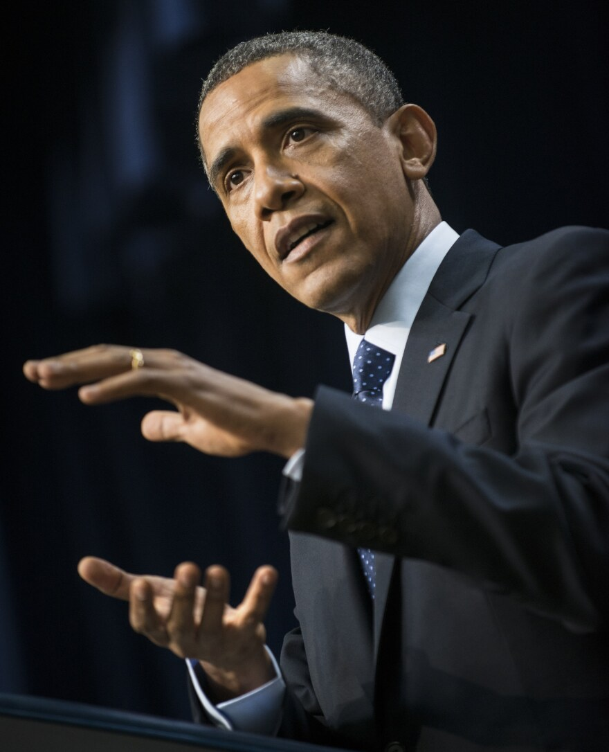 President Obama during his appearance this afternoon.