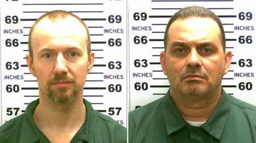 David Sweat (left) and Richard Matt (right) in a 2015 file photo released by the New York State Police after the two escaped from the Clinton Correctional Facility in Dannemora, N.Y., on June 6.