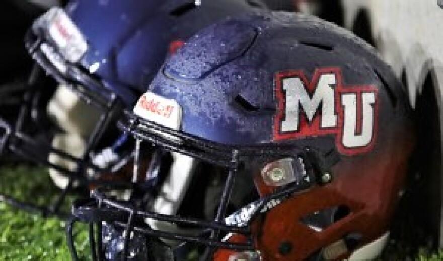 Malone University Pioneers helmet