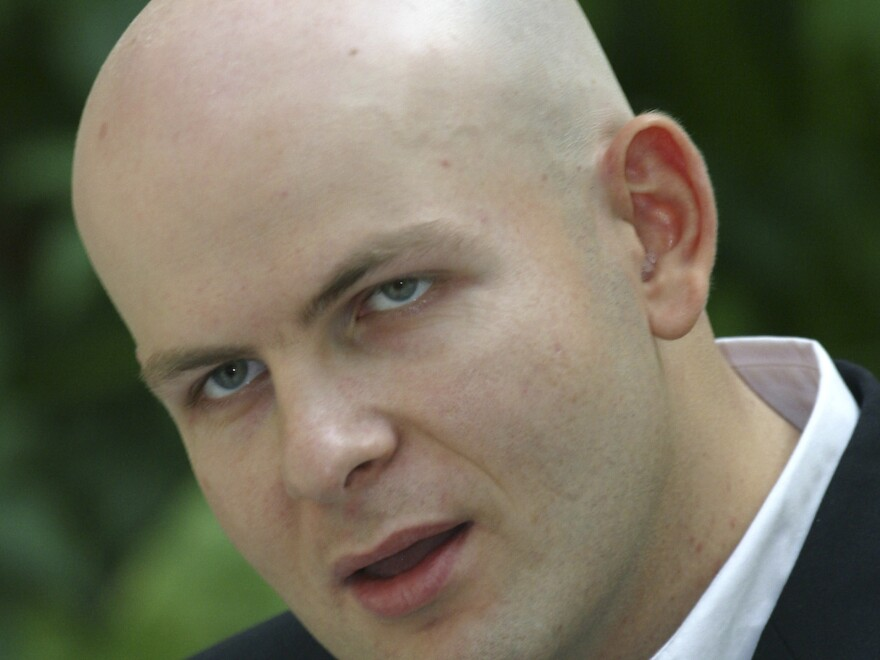 Oles Buzyna, a Ukrainian journalist seen here in 2012 who was known for his pro-Russia views, was gunned down in broad daylight in Kiev on Thursday.