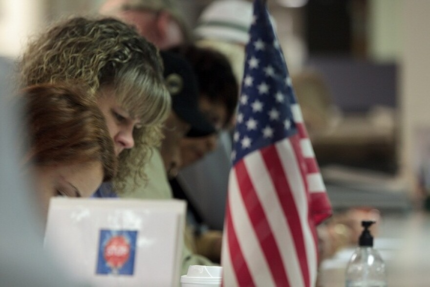 photo of early voters in Stark County
