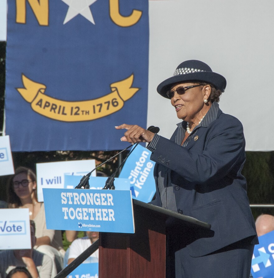 U.S. Rep. Alma Adams said Republicans knew about possible fraud in their 2018 primary, but didn't report it.