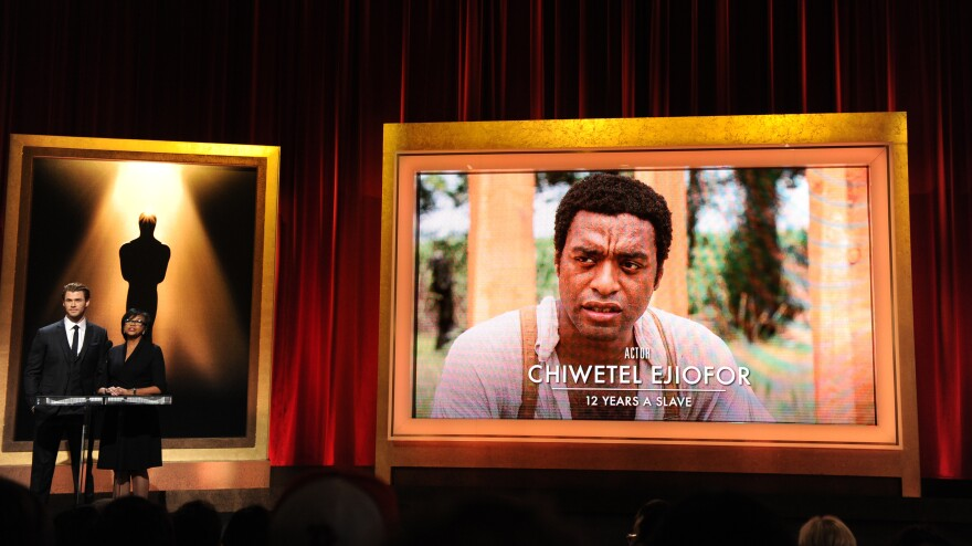 Chiwetel Ejiofor is nominated in the category of best actor for his role in <em>12 Years a Slave</em> as the 86th Academy Awards nominations are announced Thursday in Beverly Hills, Calif.