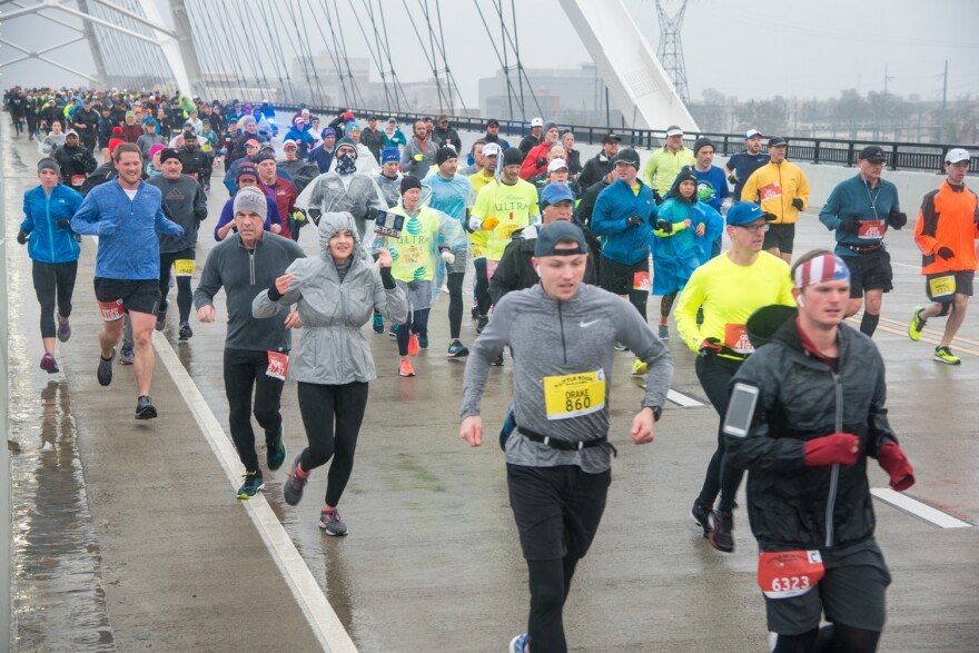 Runners participating in the 2019 Little Rock Marathon.