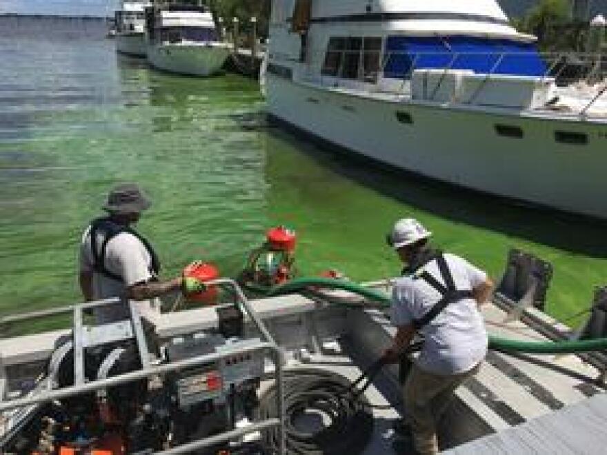 An AECOM crew begins work in Lee County.