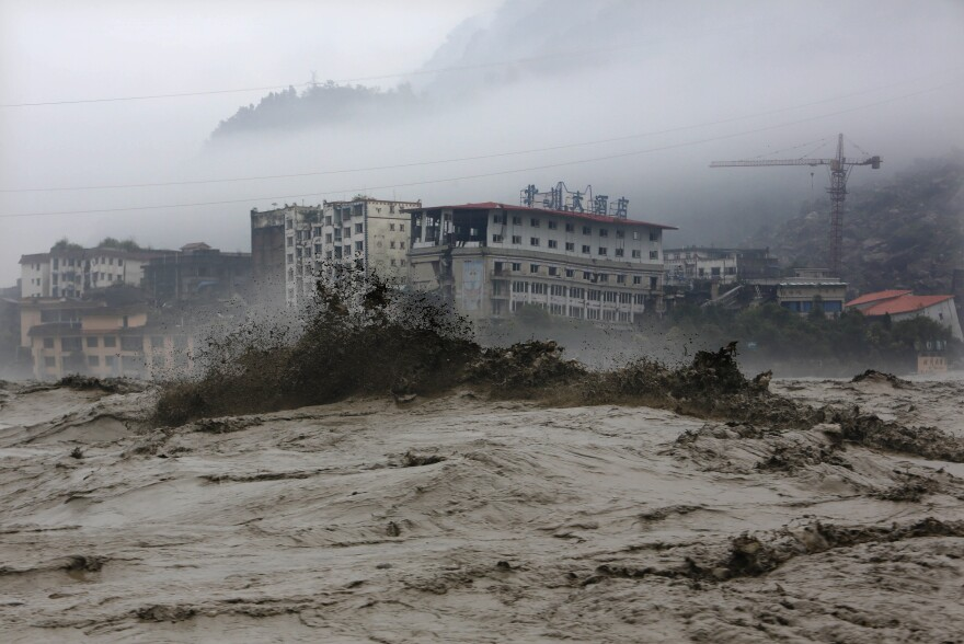 On July 9, 2013, heavy floodwaters swept through Beichuan in southwest China's Sichuan province.